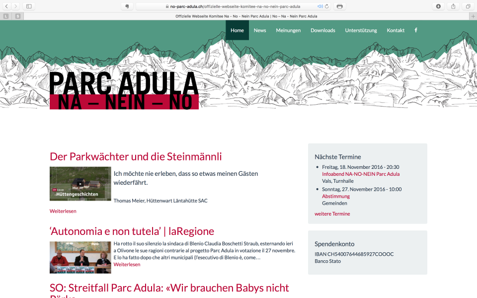 Screenshot no-parc-adula.ch