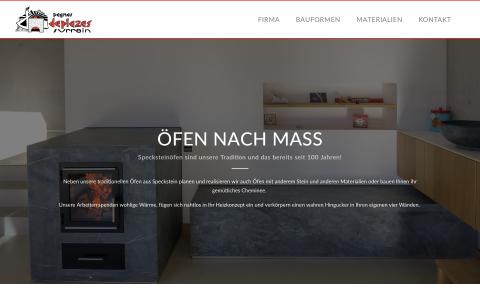 Screenshot specksteinofenbau.ch